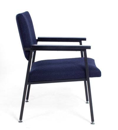 Dark blue Z10 chair by Gispen, 1960s