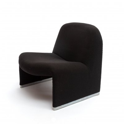Original black 'Alky' Chair by Giancarlo Piretti for Castelli, 1970s