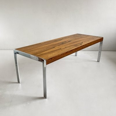 Rosewood & Chrome Merrow Associates Coffee Table, England c.1970