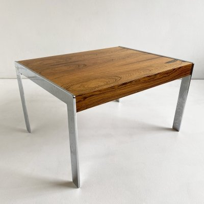 Rosewood & Chrome Merrow Associates Side Table, England c.1970