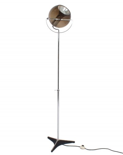 'Globe' floor lamp by Frank Ligtelijn for Raak Amsterdam, 1960s