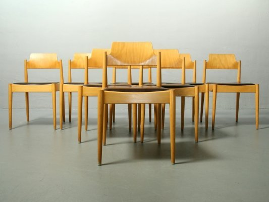 7 x SE 119 dining chair by Egon Eiermann for Wilde und Spieth, 1950s