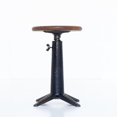 Height adjustable stool by Singer, 1930s