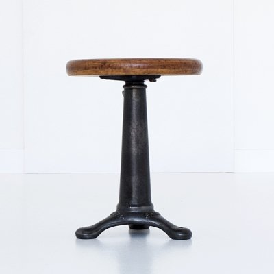 Height adjustable stool by Singer, 1920s