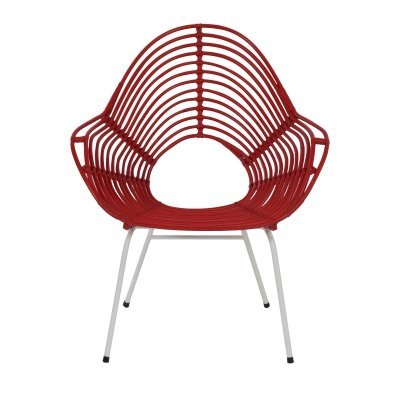 Red Rattan Chair by Rohe Noordwolde, 1960s