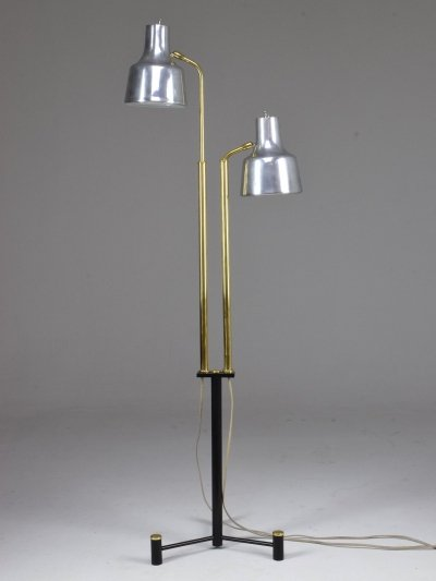 20th Century Danish Double Floor Lamp by Fog & Morup, 1960's