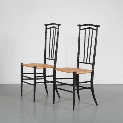 Pair of Chiavari chairs, Italy 1960s