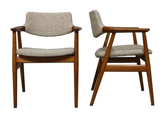 Pair of GM11 Armchairs by Svend Åge Eriksen for Glostrup, 1960s