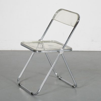 1950s 'Plia' folding chair by Giancarlo Piretti for Castelli, Italy
