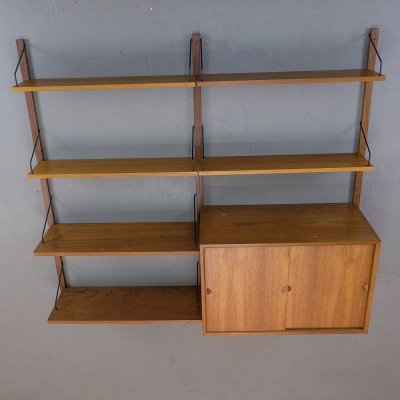 Wall Shelving Unit by Poul Cadovius for Royal System, 1960s