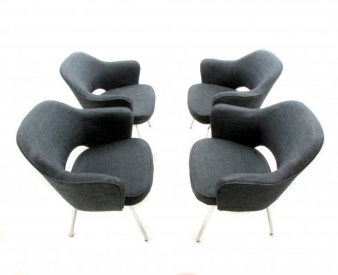 Set of 4 Executive arm chairs by Eero Saarinen for Knoll, 1970s