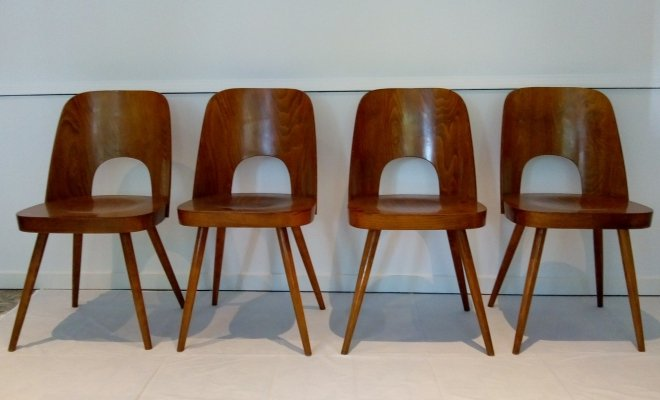 Set of 4 N515 dining chairs by Oswald Haerdtl for Thonet, 1950s