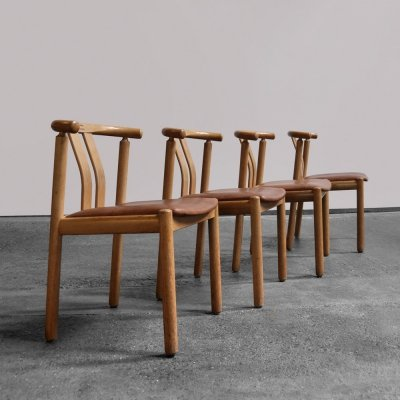 4 Danish dining chairs by Hans J. Frydendal for Boltinge Stolefabrik, 1975