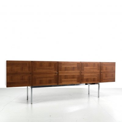 Iconic patterned veneer model 295 sideboard by Arthur Traulsen for WK Möbel