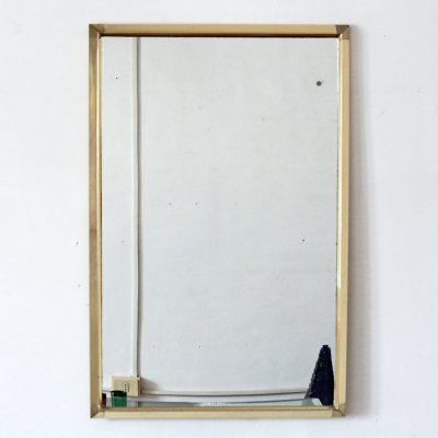 1970s goldenrod vintage wall mirror