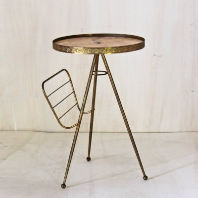 1950S italian side table with magazine rack