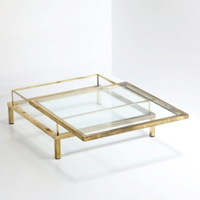 'Slide' coffee table by Maison Jansen, 1970s