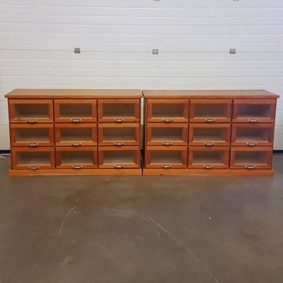 1970s wood counter with drawers