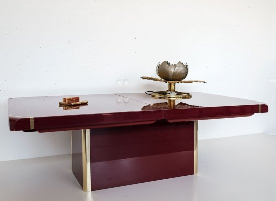 Roche Bobois Coffee Table with dry bar, 1980s