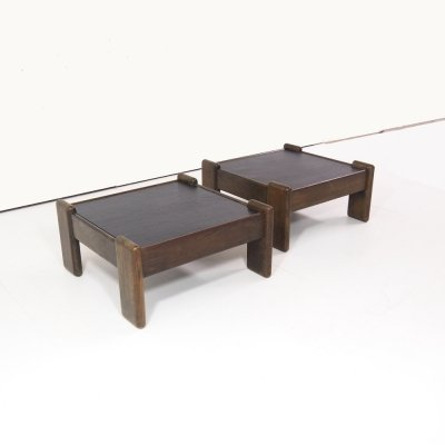 Set of 1970's brutalist coffee tables