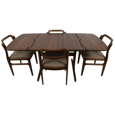 Dining set by Johannes Andersen for Uldum Møbelfabrik, 1970s