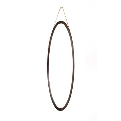 Oval mirror with teak frame, 1960s