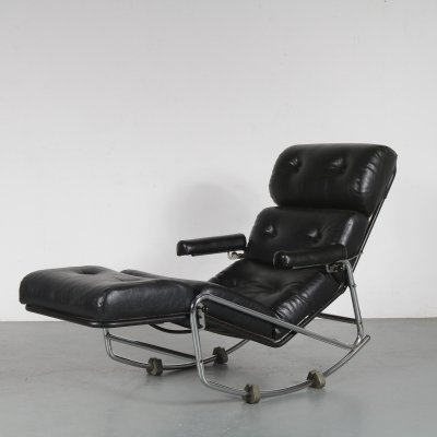 Rocking Lounge Chair, France 1970s