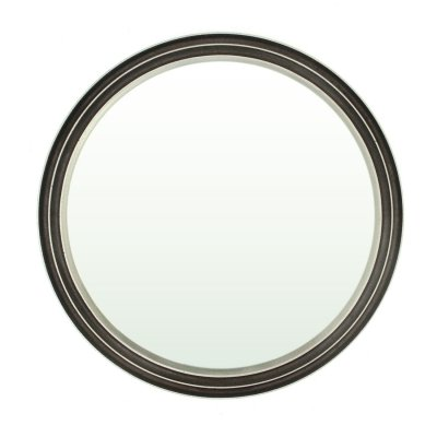 Round Mirror with Cast Aluminum Frame by Lorenzo Burchiellaro for Burchiellaro
