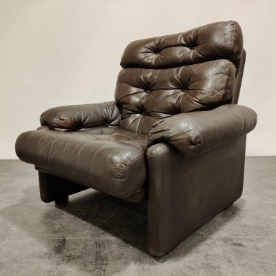 3 x Afra & Tobia Scarpa Italian Leather 'Coronado' Armchair by B&B, 1970s