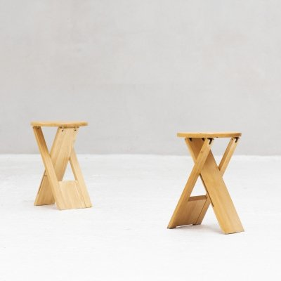 Set of 2 stools by Adrian Reed for Princes design work ltd., UK 1984