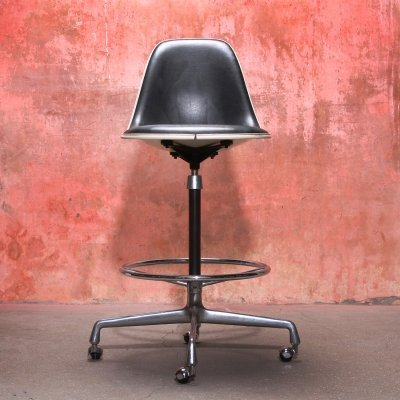 Charles & Ray Eames Vintage Swivel Bar Stool for Herman Miller, 1960s