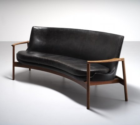 Kidney Shaped Sofa by Ib Kofod-Larsen for Fröscher, Germany 1970's