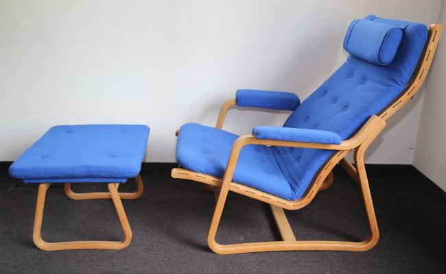 Danish Lounge Chair with Ottoman by Ditte And Adrian Heath for France & Sons