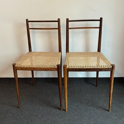 Pair of Italian Dining Chairs by Tito Agnoli for LA Linea