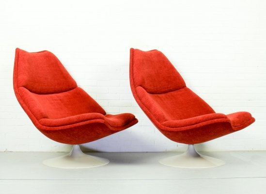 Set of 2 Vintage Model F510 Lounge Chairs by Geoffrey Harcourt for Artifort, 1970s