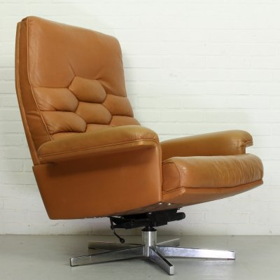 Vintage De Sede DS 35 Swivel Armchair by Robert Haussmann, Switzerland 1970s