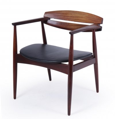 Mid Century Danish Teak Desk Chair, c1960