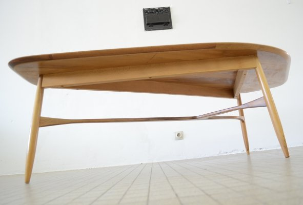 Large organic teak coffee table by Svante Skogh for Laauser, 1960s
