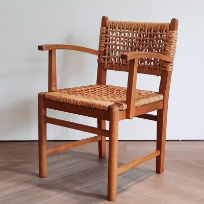 Beech & Rope Armchair by Thonet, 1950s