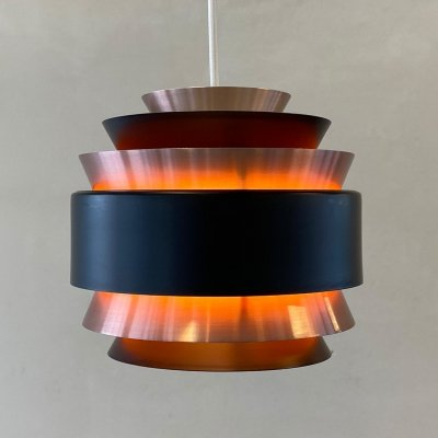 Rose copper hanging lamp by Carl Thore for Granhaga Sweden, 1960s