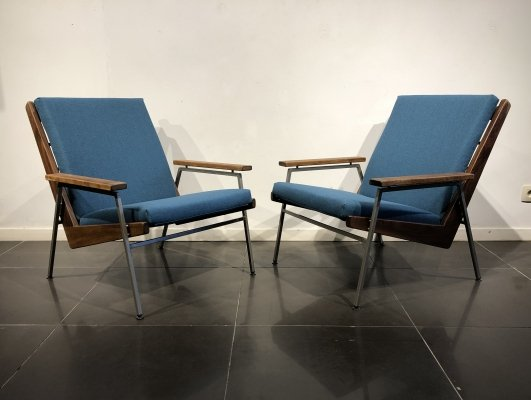Pair of 'Lotus' Easy Chairs by Rob Parry for Gelderland, 1960s
