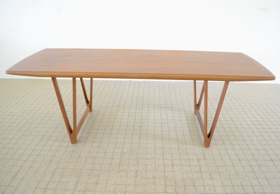 Midcentury design teak coffee table by Andreas Hansen for Arrebo Möbler, 1960s