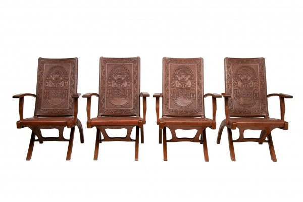 Set of 4 Angel I Pazmino Chairs, c.1960