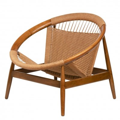 Midcentury Ringstol Chair by Illum Wikkelsø, c.1960