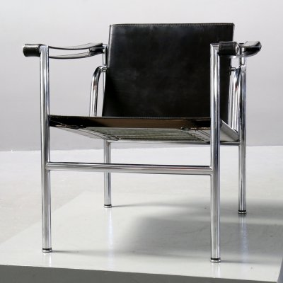 2 x LC1 Chair by Le Corbusier, Pierre Jeanneret & Charlotte Perriand for Cassina, 1980s