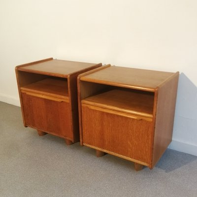 Pair of bedside tables by Cees braakman for Pastoe, 1950s