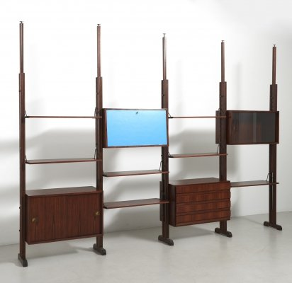 Wall Unit with Three Cabinets, Italy 1960's