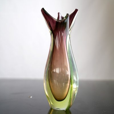 Vintage Italian Sommerso glass vase by Flavio Poli for Seguso, 1960