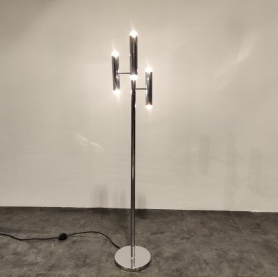 Vintage chrome floor lamp by Boulanger, 1970s
