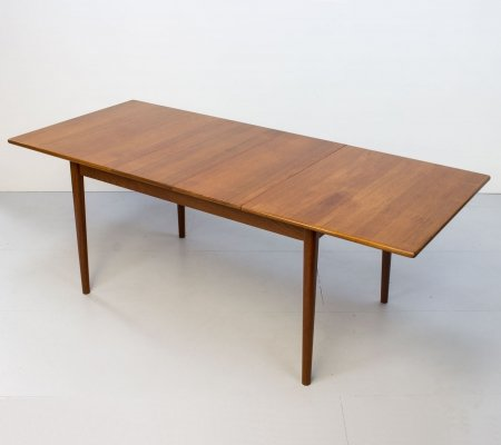 Swedish Scania Teak Extending Dining Table by Troeds, 1960s